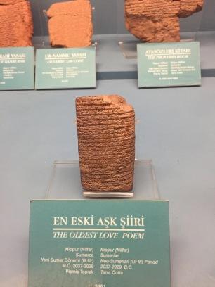 Oldest love letter in cuneiform