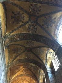 Ceiling mosaic patterns of the Hagia Sophia