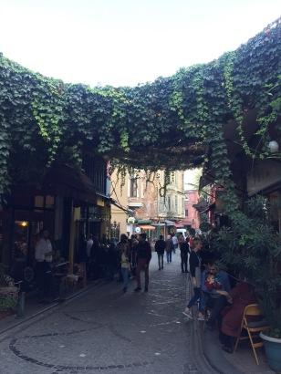 Fener district Greek style street