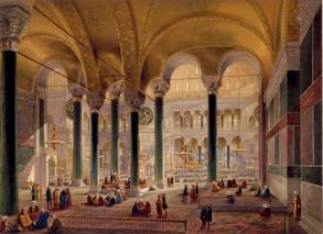 Hagia Sophia as an Ottoman mosque