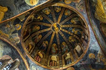 Church of Chora dome frescos