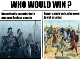Beginning of Arab Byzantine conflict meme