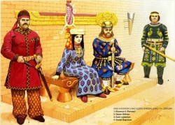 Court of the Persian shah Chosroes II