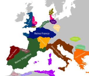 Western Europe under Barbarian kingdoms after 476