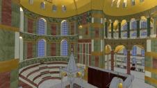 Reconstruction of the Hagia Sophia's Byzantine interiors