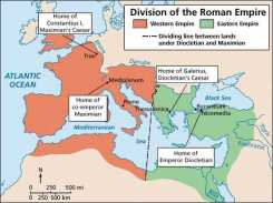 Division of the Roman Empire under the 1st Tetrarchy, 293