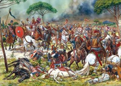 Belisarius' victory over the Vandals in North Africa