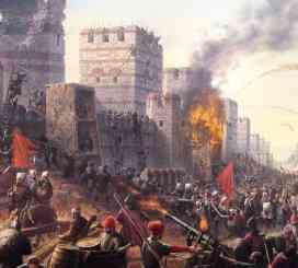 Ottomans besiege the Walls of Theodosius II, 1453