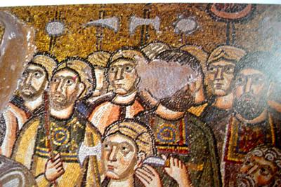 Byzantine mosaic depicting Varangian Guards