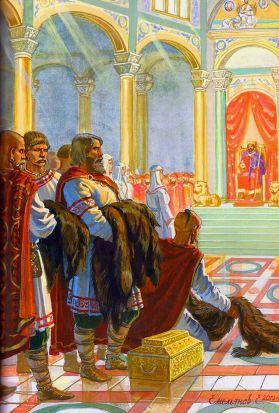 Court of Emperor Constantine VII in Constantinople
