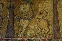 Byzantine lion mosaic