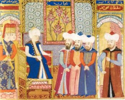 Ottoman court during the 1402-1413 interregnum