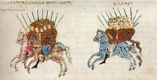 Byzantines in battle against the Bulgarians