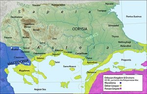 Map of Thrace and its people