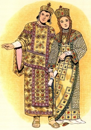 Constantine the Great and wife Empress Fausta