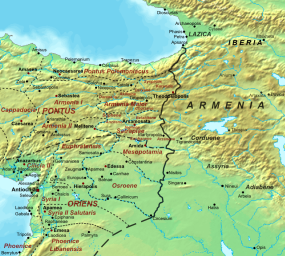 Location of Armenia and Cappadocia in Byzantine times