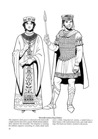 Basil II (right) and Helena, wife of his brother Constantine VIII