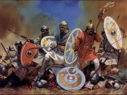 Eastern Roman defeat at the Battle of Adrianople, 378