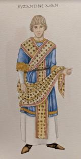 Byzantine consul in consul's robes
