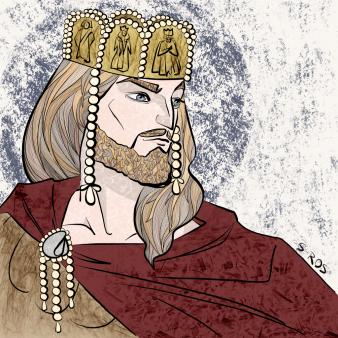 Emperor Constantine IX Monomachos (r. 1042-1055), former Byzantine senator