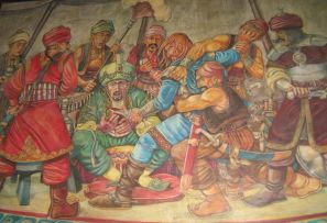 Sultan Murad I assassinated after the Battle of Kosovo, 1389