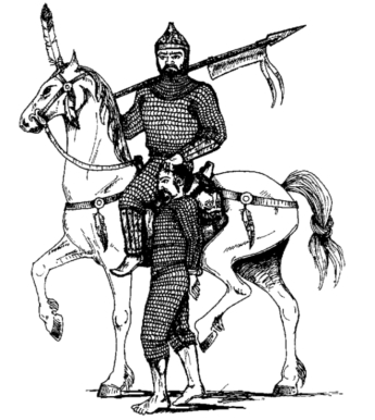 Khazar Turkic steppe warriors