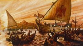 Rus fleet at the Bosporus, 941