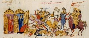 Thomas the Slav's army attacks by land