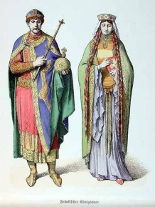 Emperor Michael II of Amorion (r. 820-829) and 2nd wife Empress Euphrosyne, daughter of Constantine VI
