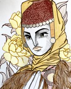 Empress Tzitzak (Irene) of Khazaria, wife of Constantine V