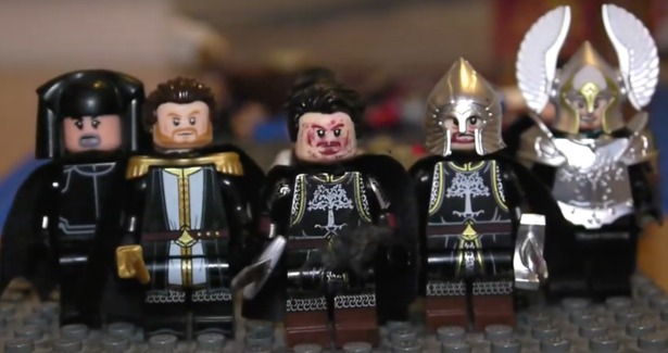 Victorious Byzantines in Lego after recapturing the capital in 1261