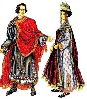 Emperor Theodosius I (left) and Empress Aelia Flaccilla (right)
