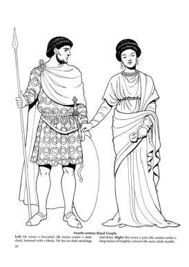 Emperor Valentinian I and wife Marina Severa