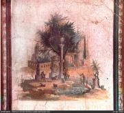 Fresco of Postumus' exile location in Planasia