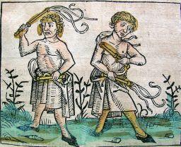 Flagellants during Black Death