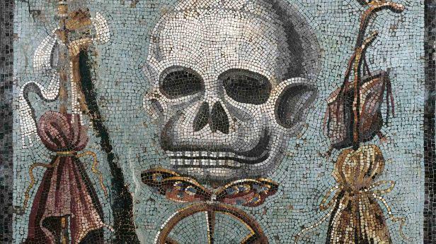 Roman mosaic depicting plague