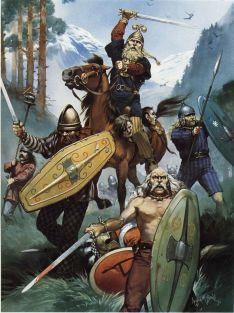 Macromanni Germanic warriors