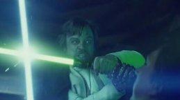 Luke Skywalker fights Ben Solo
