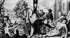 Monks and priests during Black Death
