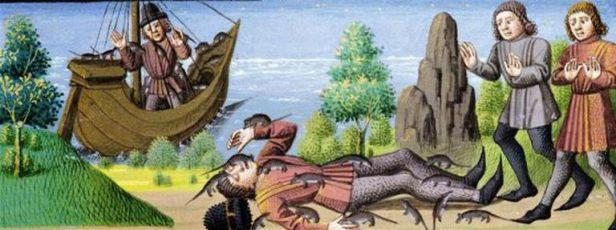 Black Death arrives in Spain