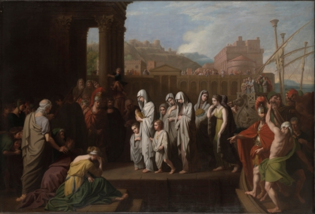 Agrippina carries Germanicus' ashes