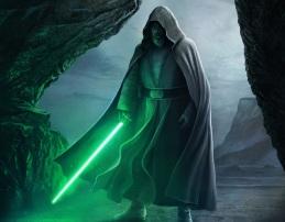 Jedi Master Luke Skywalker in Ahch-To