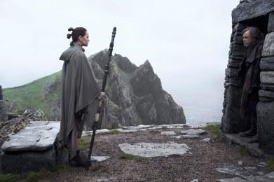Rey meets Luke Skywalker in The Last Jedi