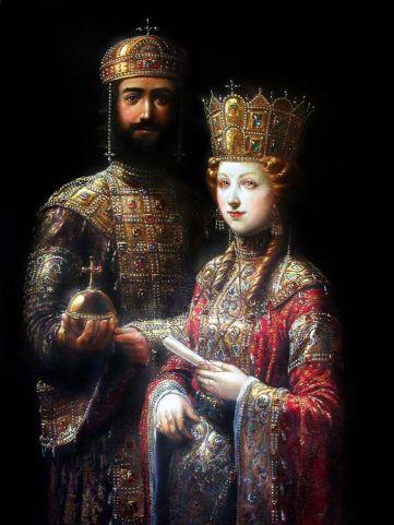 Emperor John II Komnenos and wife Irene of Hungary