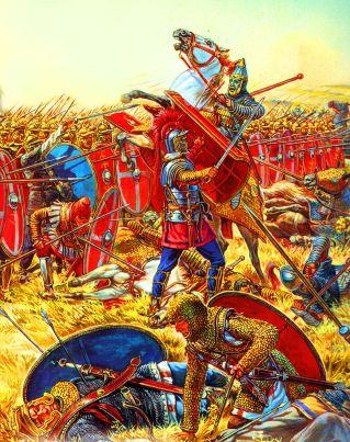 Roman legions fight against Parthians