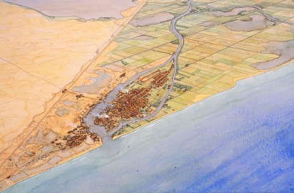 Top view of the Port of Pelusium, Egypt