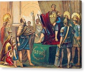 Court of Emperor Tiberius with Praetorians