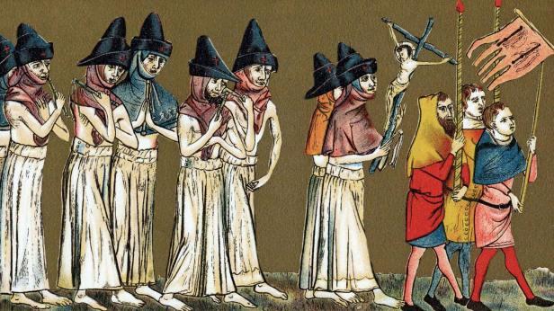 Medieval plague cure: flagellation