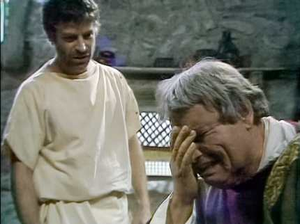 Augustus visits Postumus in Planasia, from I, Claudius