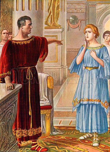Augustus banishes his daughter Julia